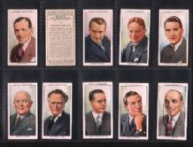 Tobacco cards cigarette cards set Radio Celebrities